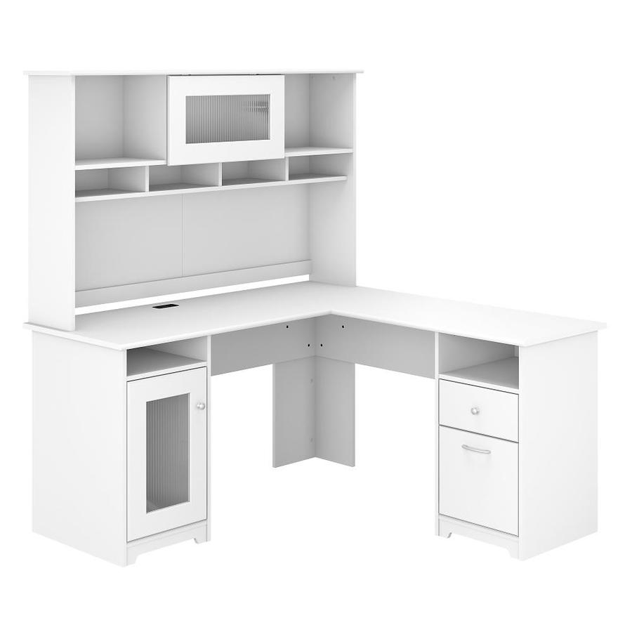Bush Furniture Cabot 59 45 In White Traditional L Shaped Desk In The Desks Department At Lowes Com