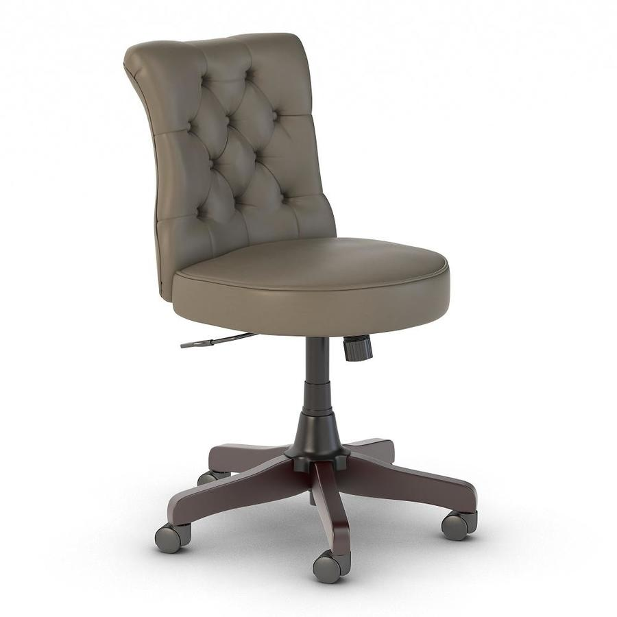 Bush Business Furniture Arden Lane Washed Gray Leather Contemporary Adjustable Height Swivel Desk Chair In The Office Chairs Department At Lowes Com