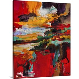 Stupell Industries Frameless 40 In H X 30 In W Abstract Canvas Print In The Wall Art Department At Lowes Com