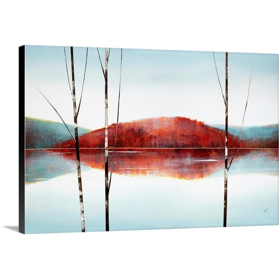Greatbigcanvas Greatbigcanvas Frameless 40 In H X 60 In W Abstract Canvas Painting In The Wall Art Department At Lowes Com