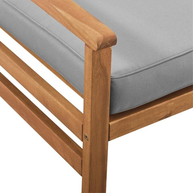 Walker Edison Brown Wood Stationary Conversation Chair S