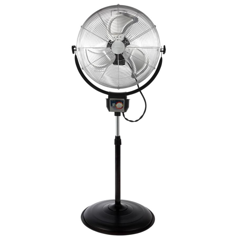 Optimus 20 In 3 Speed Indoor Chrome Stand Fan In The Portable Fans Department At Lowes Com
