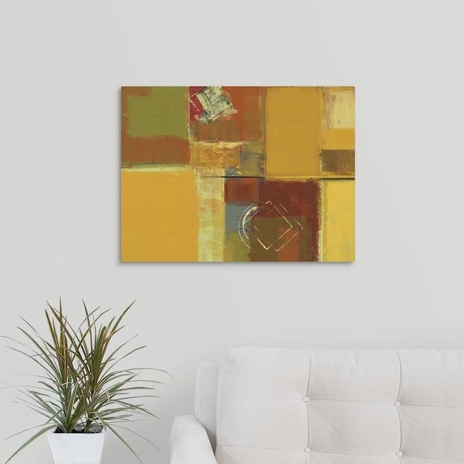 Greatbigcanvas Greatbigcanvas Frameless 18 In H X 24 In W Abstract Canvas Painting In The Wall Art Department At Lowes Com