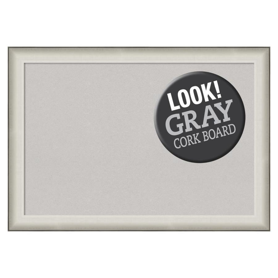 Amanti Art Framed Grey Cork Board Extra Large Allure White In The Memo Boards Department At Lowes Com