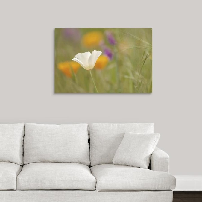 Greatbigcanvas Greatbigcanvas Frameless 24 In H X 36 In W Abstract Canvas Painting In The Wall Art Department At Lowes Com