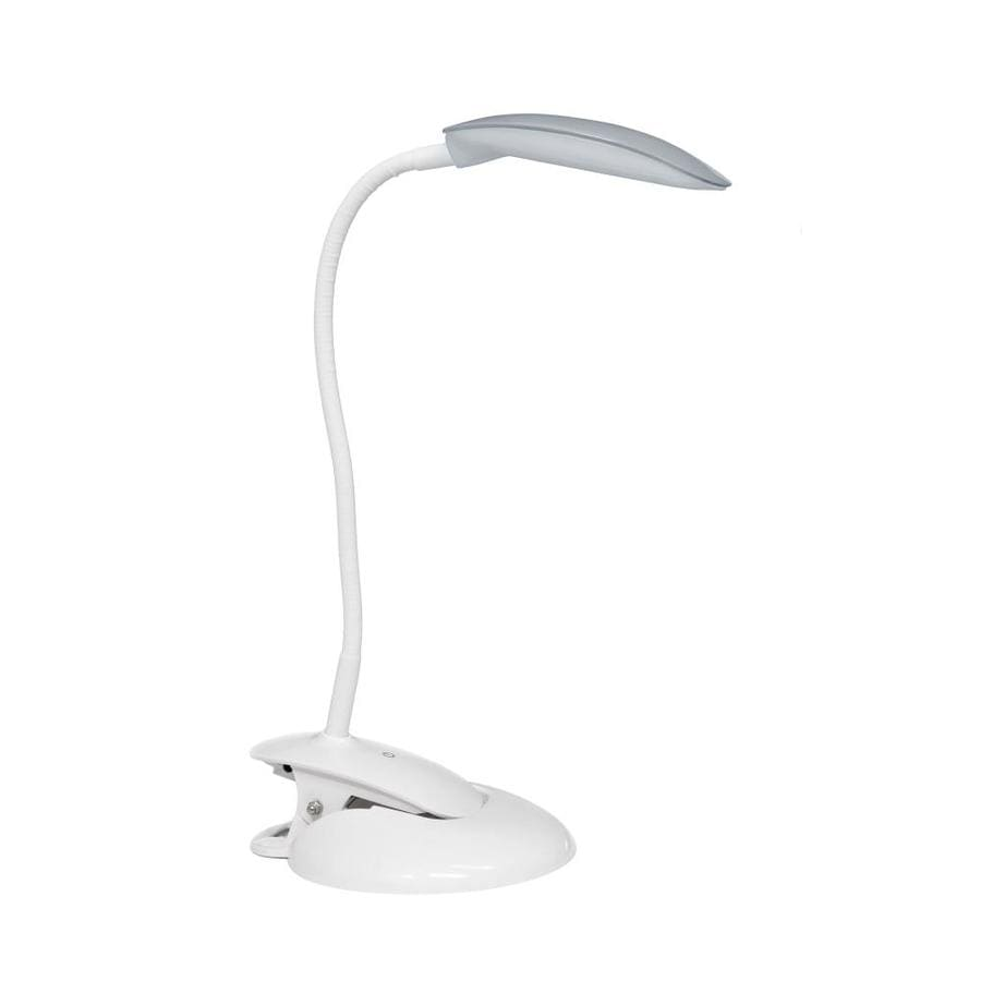 Simple Designs 21 5 In Adjustable Gray Touch Clip Desk Lamp With Plastic Shade In The Desk Lamps Department At Lowes Com