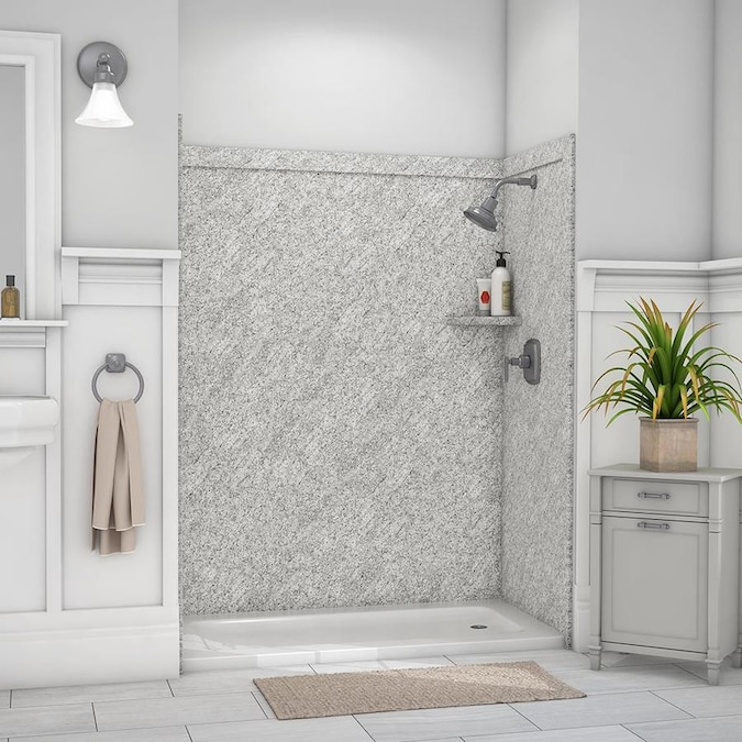 FlexStone Royale Arctic Haze Panel Kit Shower Wall Surround (60-in X 36-in) In The Shower Wall Surrounds Department At Lowes.com