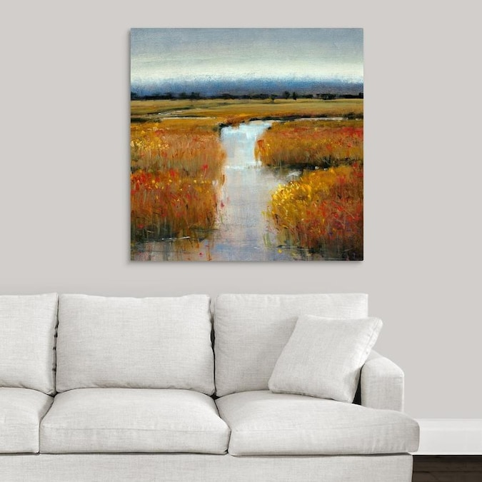 Greatbigcanvas Greatbigcanvas Frameless 36 In H X 36 In W Abstract Canvas Painting In The Wall Art Department At Lowes Com