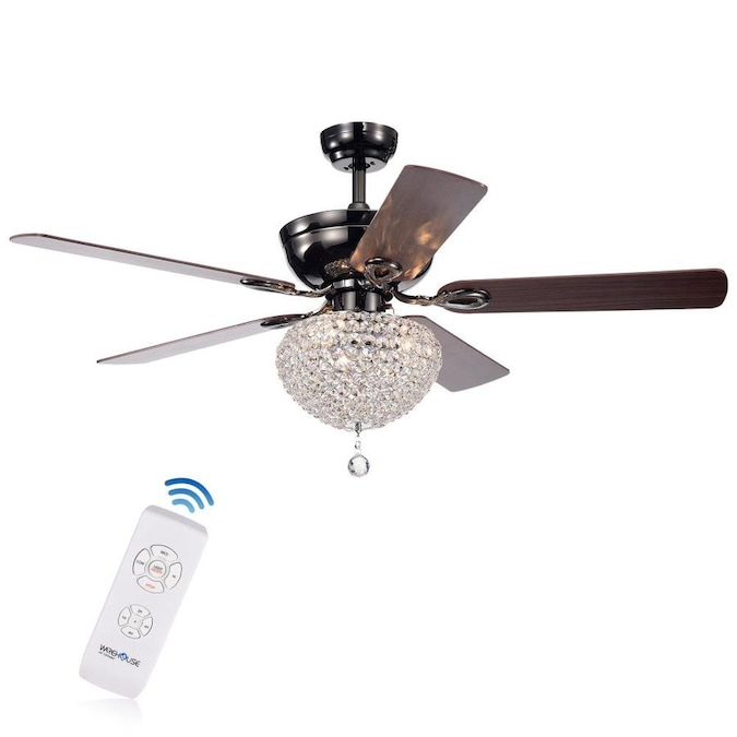 Home Accessories Inc Black 51 In Indoor Ceiling Fan 5 Blade In The Ceiling Fans Department At Lowes Com