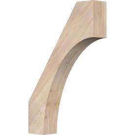 Ekena Millwork Imperial Rough Sawn 6 In X 24 In X 36 In Western Red Cedar Wood Brace In The Braces Department At Lowes Com