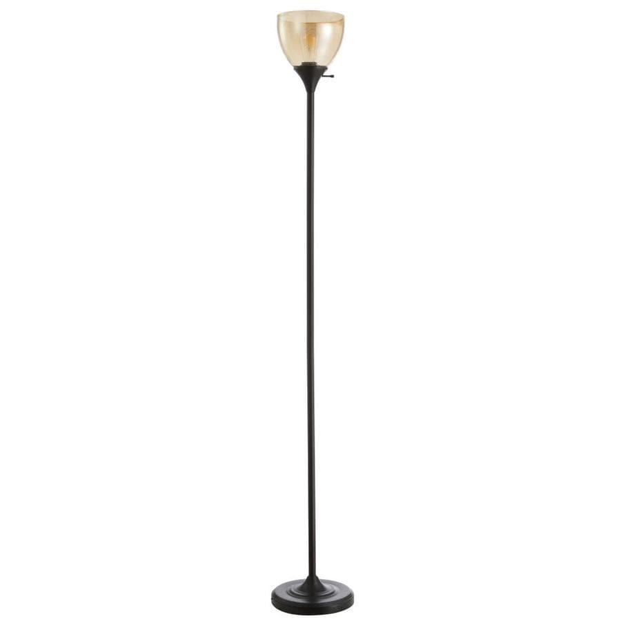 Safavieh Arabella 70 In Black Torchiere Floor Lamp In The Floor Lamps Department At Lowes Com