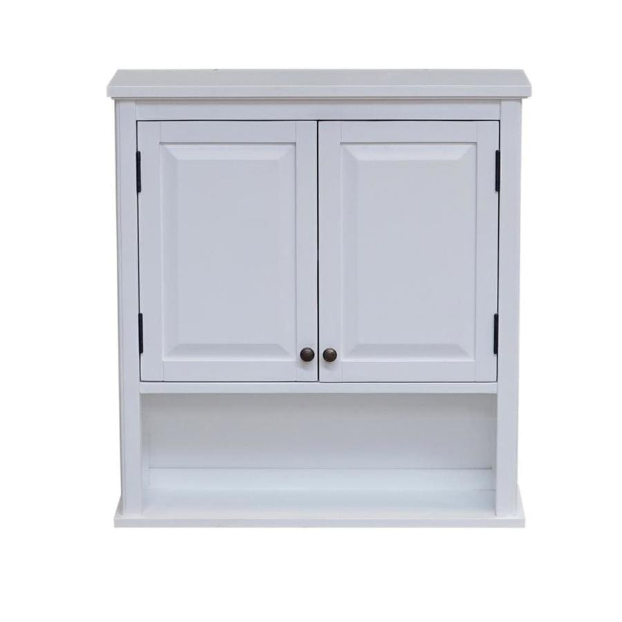 Alaterre Furniture Dorset 27 In W X 29 In H X 9 In D White Bathroom Wall Cabinet In The Bathroom Wall Cabinets Department At Lowes Com