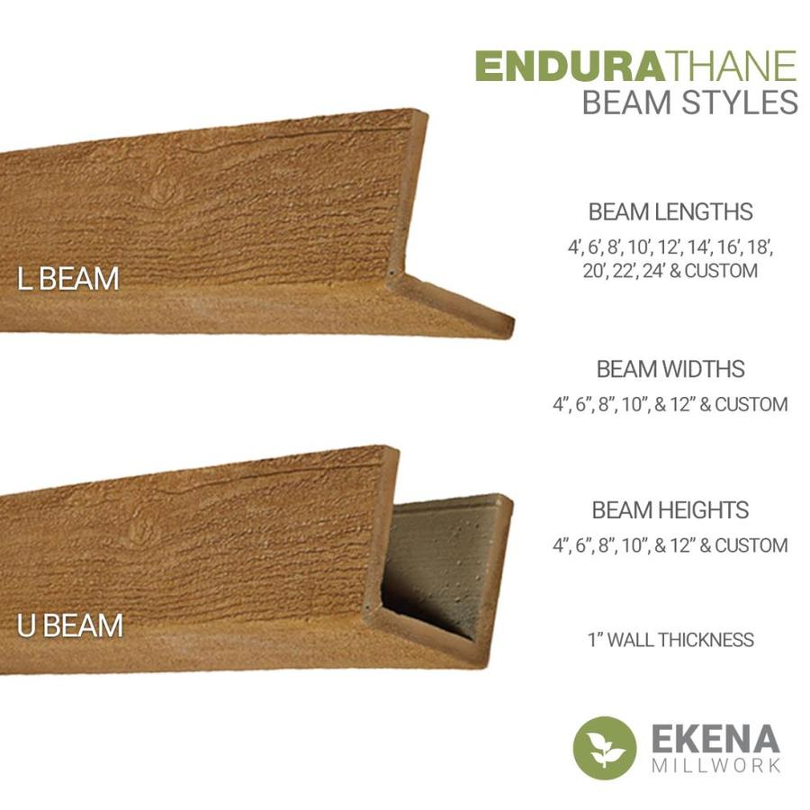 Ekena Millwork Riverwood Endurathane Faux Wood 6 In X 10 In X 144 In Whitewash Prefinished Polyurethane Decorative Beam In The Faux Beams Department At Lowes Com