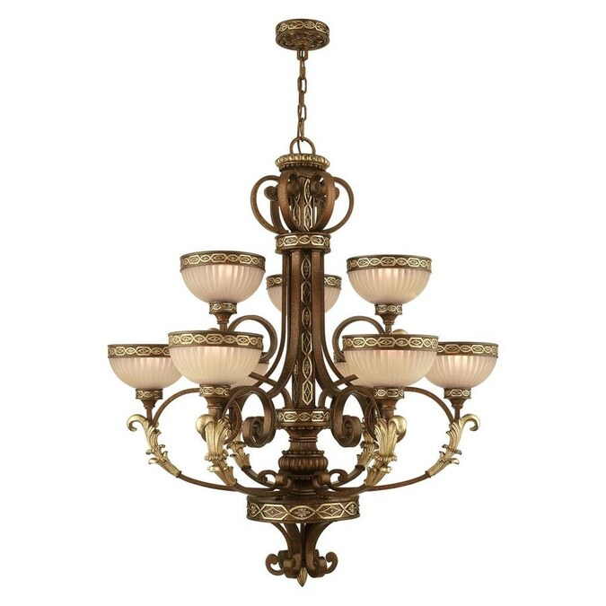 Livex Lighting Seville 9 Light Palacial Bronze Traditional Chandelier In The Chandeliers Department At Lowes Com