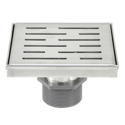 Emoderndecor Shower Square Shower Floor Drain 6 In 8211 Stripe
