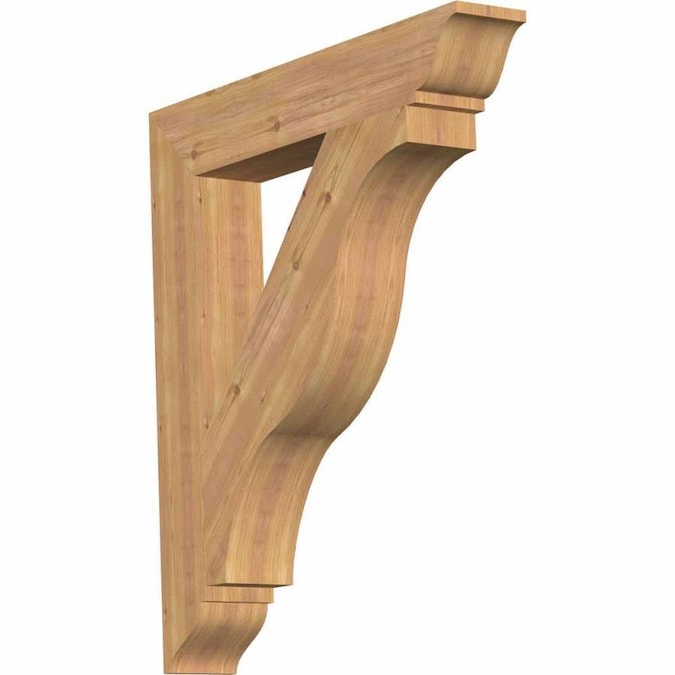 Ekena Millwork Funston Traditional Smooth 5 1 2 In X 36 In X 40 In Western Red Cedar Wood Bracket In The Brackets Department At Lowes Com