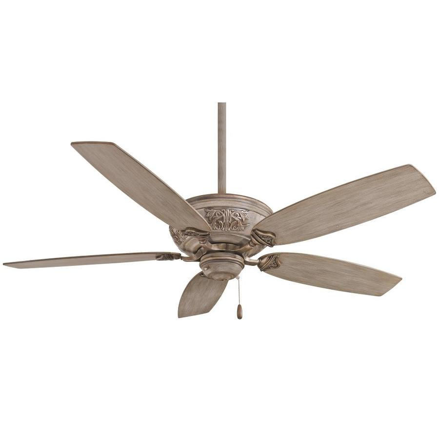 Minka Aire Classica Driftwood 54 In Indoor Ceiling Fan 5 Blade In The Ceiling Fans Department At Lowes Com