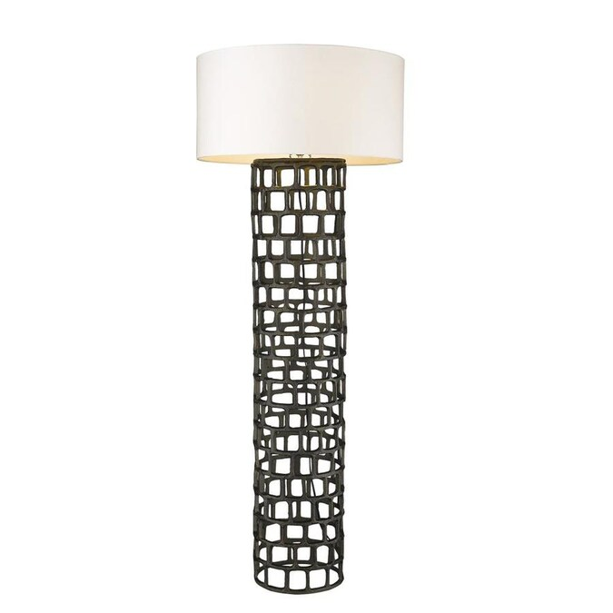 Black Gold Shaded Floor Lamp