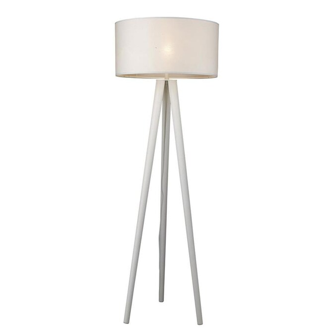 White Floor Lamp In The Lamps