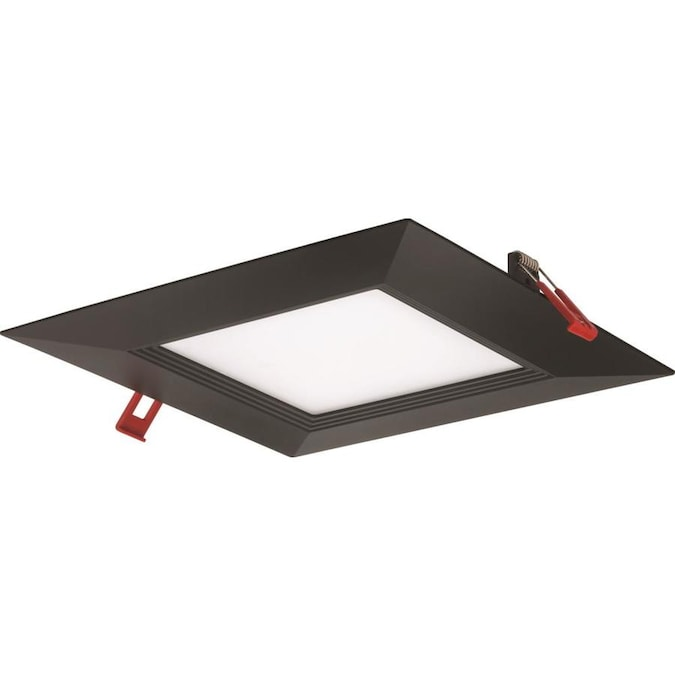 Lithonia Lighting Wafer Integrated Led 100 Watt Equivalent Matte Black Square Dimmable Canless