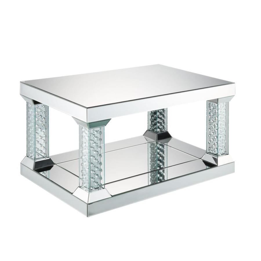 Acme Furniture Nysa Mirrored Top Mirror Coffee Table In The Coffee Tables Department At Lowes Com