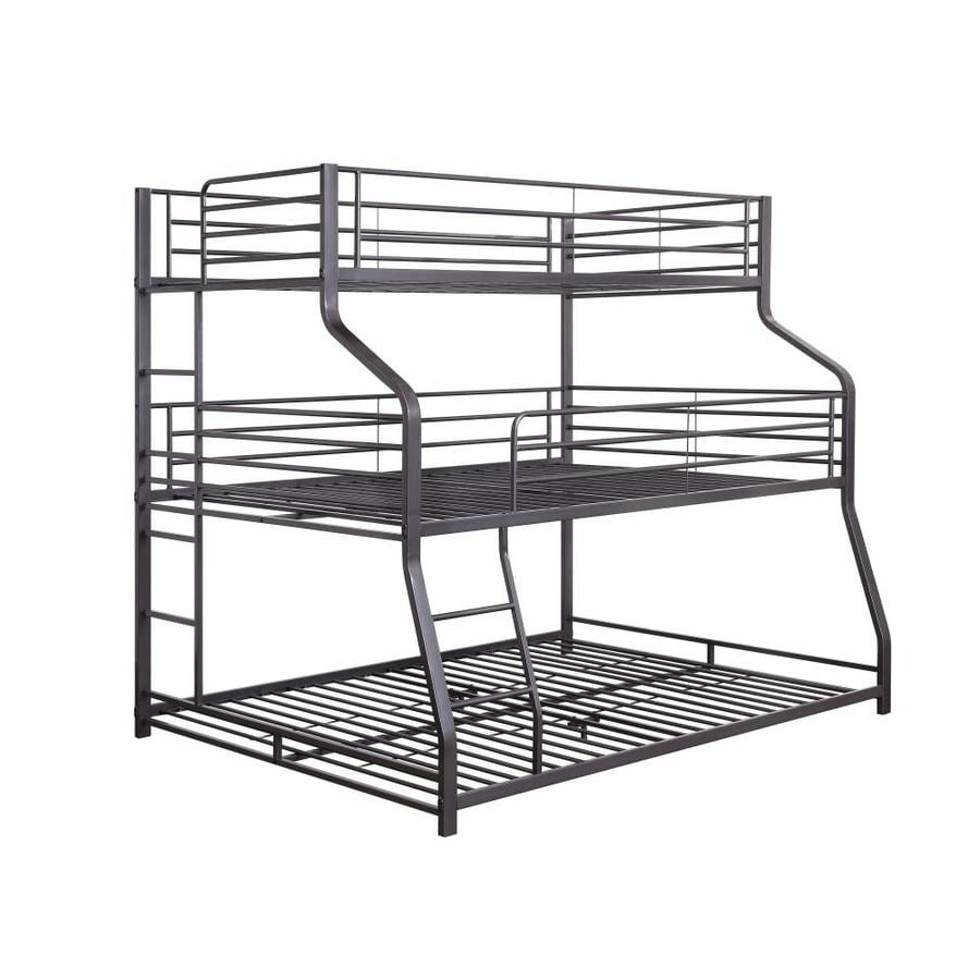 Acme Furniture Caius Ii Gunmetal Twin Over Queen Bunk Bed In The Bunk Beds Department At Lowes Com