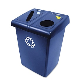 Toter 32 Gallon Blue Outdoor Recycling Bin In The Recycling Bins Department At Lowes Com