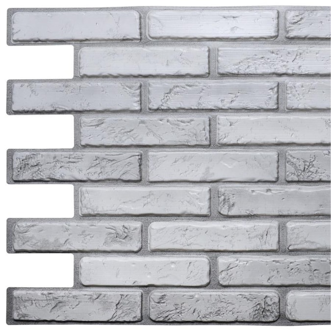 Dundee Deco Falkirk 3d Retro Off White Grey Wall Panel In The Wall Panels Department At Lowes Com