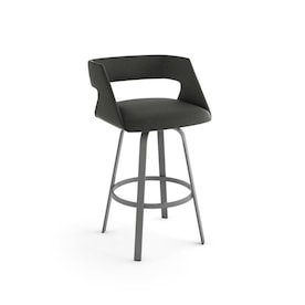 Amisco Braga Beige Counter Height Upholstered Swivel Bar Stool In The Bar Stools Department At Lowes Com