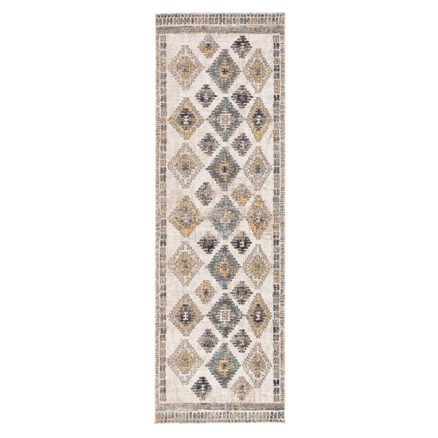 Laila 2 X 8 Blue Yellow Indoor Outdoor Geometric Southwestern Runner In The Rugs Department At Lowes Com