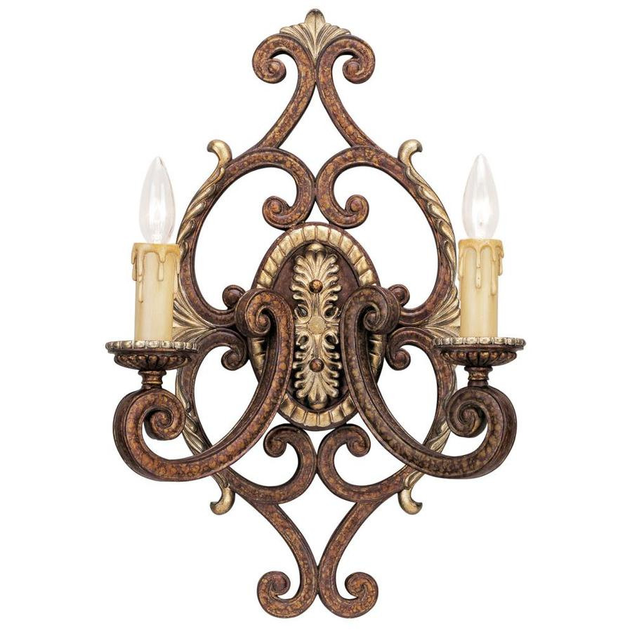 Livex Lighting Seville 14 25 In W 2 Light Palacial Bronze Wall Sconce In The Wall Sconces Department At Lowes Com