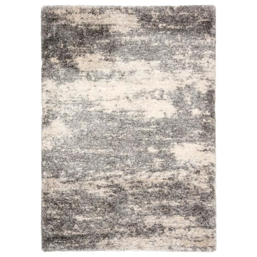Folea 10 X 14 Gray Ivory Indoor Abstract Kids Area Rug In The Rugs Department At Lowes Com