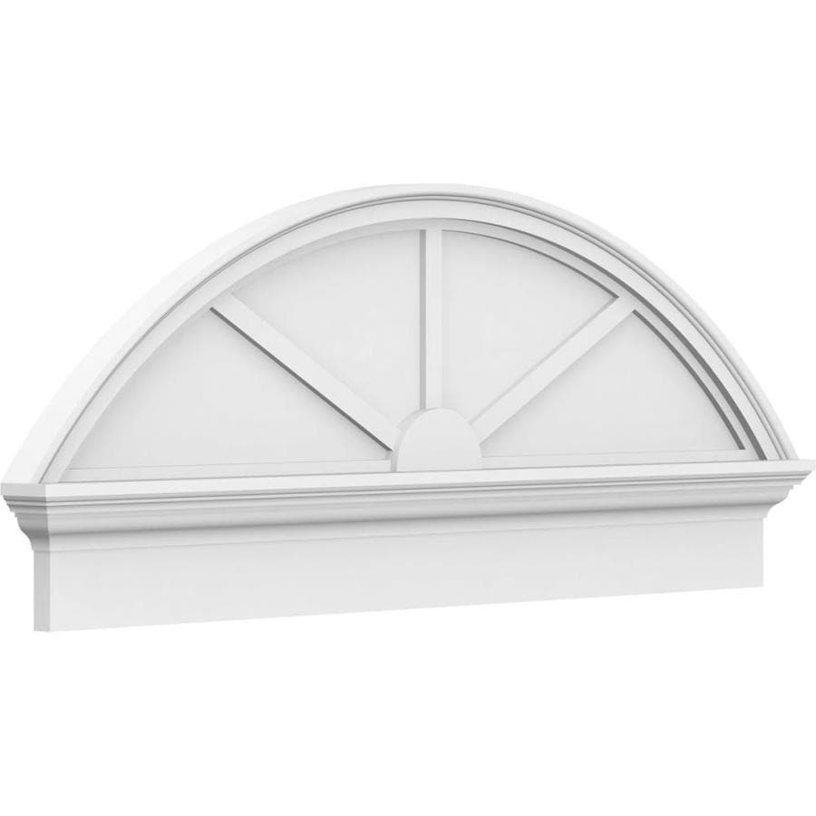 Ekena Millwork Segment Arch 3 Spoke 46 In X 18 3 8 In Unfinished Pvc Pediment Entry Door Casing Accent In The Crosshead Window Header Department At Lowes Com