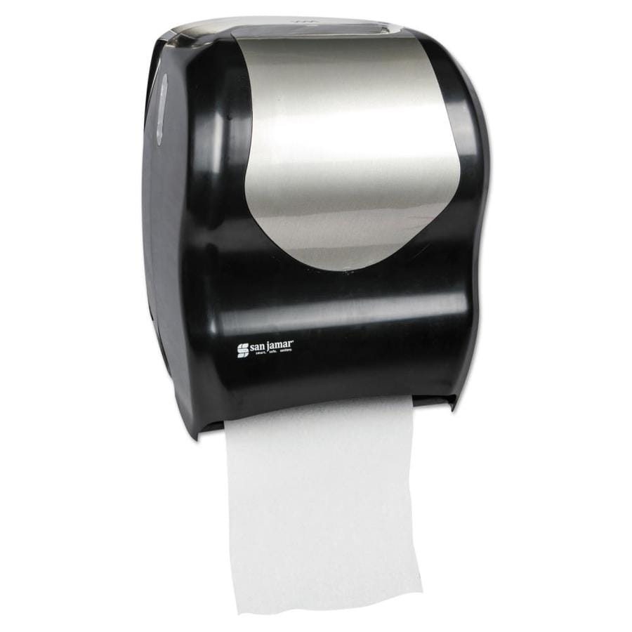 San Jamar Tear N Dry Touchless Roll Towel Dispenser 16 3 4 X 10 X 12 1 2 Black Silver In The Paper Towel Dispensers Department At Lowes Com