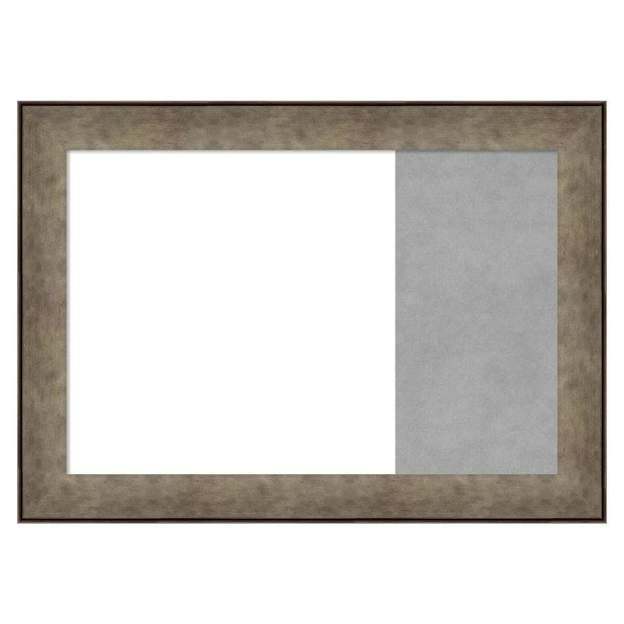 Amanti Art Framed Multi Functional White Dry Erase And Magnetic Combo Board Pounded Metal In The Memo Boards Department At Lowes Com