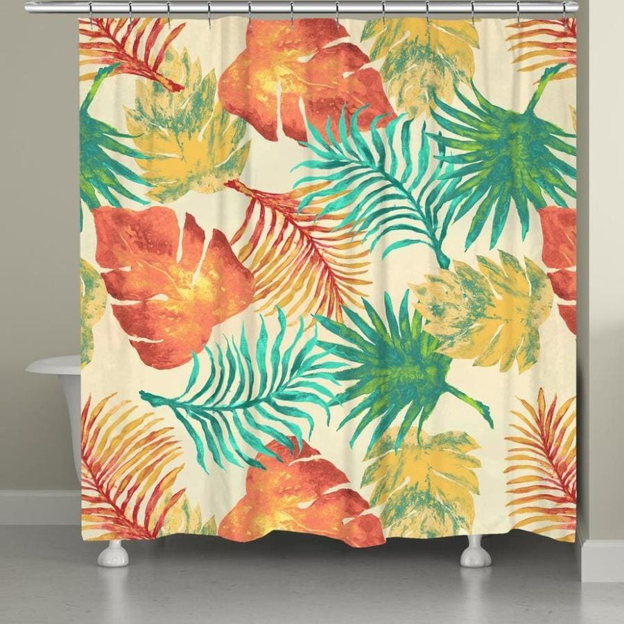 Laural Home Tropical Havana Palm Leaves Shower Curtain 71x72 In The Shower Curtains Liners Department At Lowes Com Free returns high quality printing fast shipping. lowe s