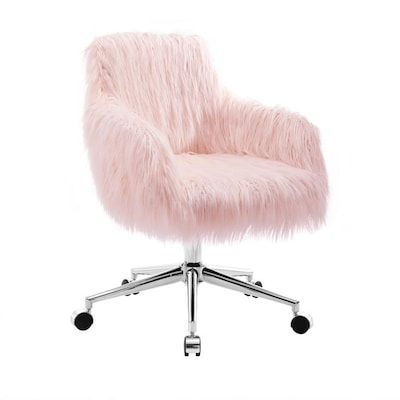 Linon Fiona Pink Transitional Desk Chair At Lowes Com