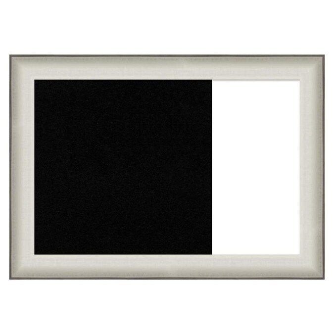 Amanti Art Framed Multi Functional Black Cork And White Dry Erase Combo Board Allure White In The Memo Boards Department At Lowes Com