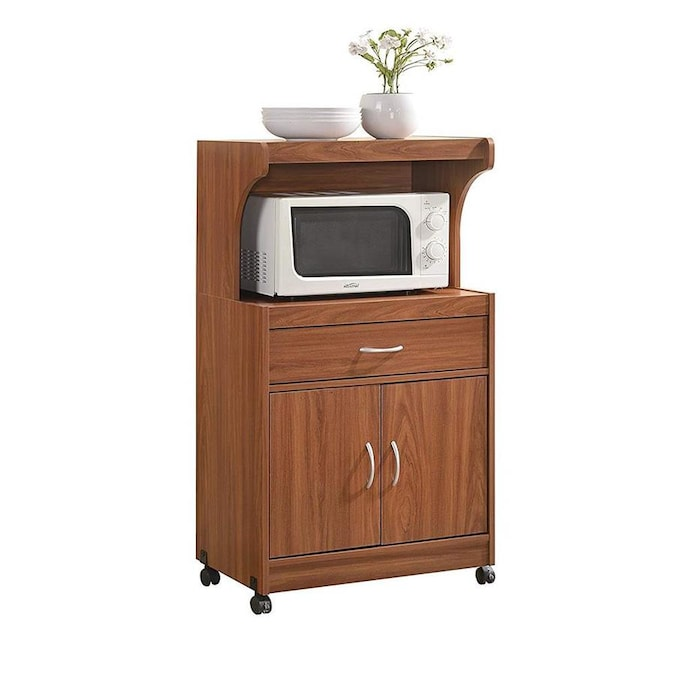 Wood Top Microwave Cart