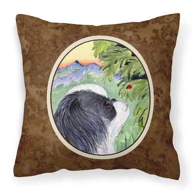 Caroline S Treasures Graphic Print Multicolor Square Dogs Throw Pillow In The Outdoor Decorative Pillows Department At Lowes Com