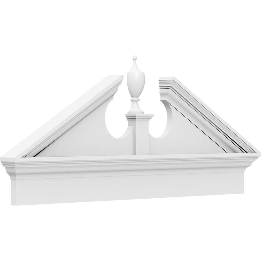 Ekena Millwork Acorn 7 Ft X 27 7 8 In Unfinished Pvc Pediment Entry Door Casing Accent In The Crosshead Window Header Department At Lowes Com