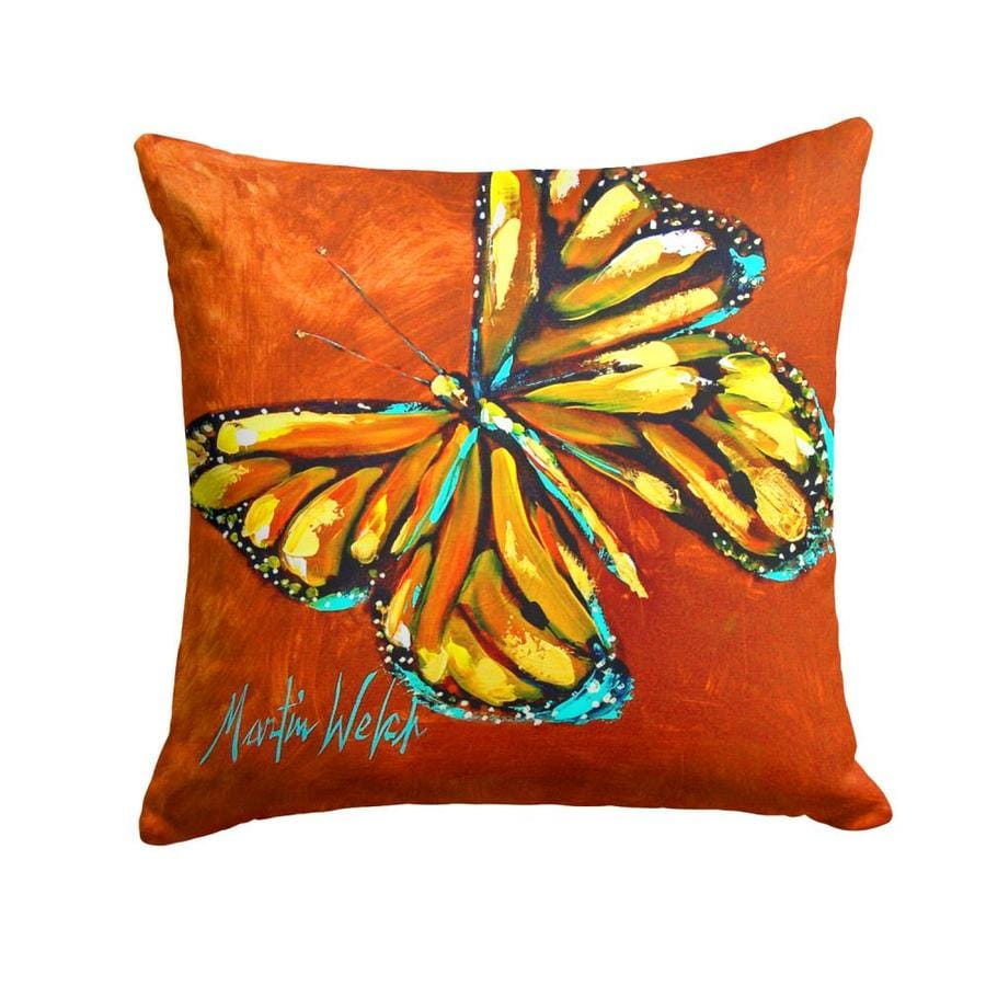 Caroline S Treasures Graphic Print Multicolor Square Butterflies Throw Pillow In The Outdoor Decorative Pillows Department At Lowes Com