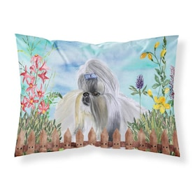 Caroline S Treasures Springtime Dog Graphic Print Multicolor Rectangular Dogs Throw Pillow In The Outdoor Decorative Pillows Department At Lowes Com