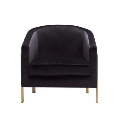 Monte Modern Black Velvet Accent Chair