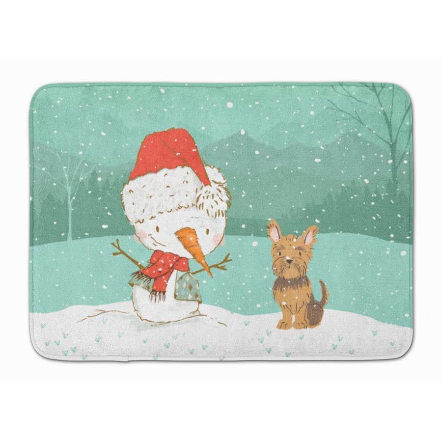 Caroline S Treasures Christmas Snowman 19 In X 27 In Microfiber Memory Foam Bath Mat In The Bathroom Rugs Mats Department At Lowes Com