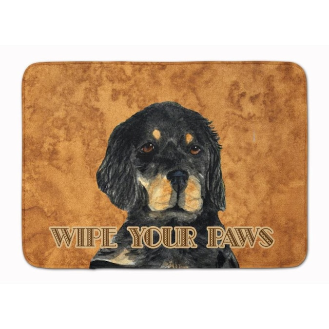 Caroline S Treasures Wipe Your Paws 19 In X 27 In Microfiber Memory Foam Bath Mat In The Bathroom Rugs Mats Department At Lowes Com