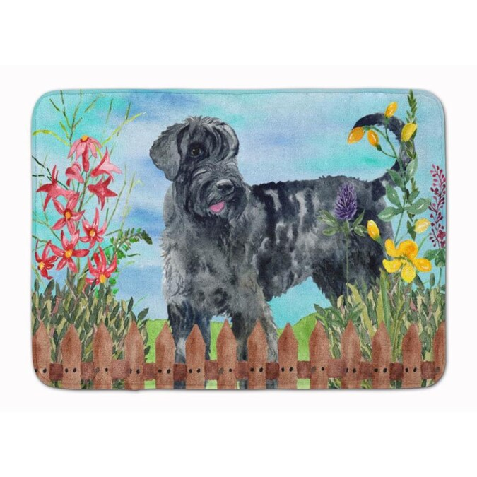 Caroline S Treasures Springtime Dog 19 In X 27 In Microfiber Memory Foam Bath Mat In The Bathroom Rugs Mats Department At Lowes Com