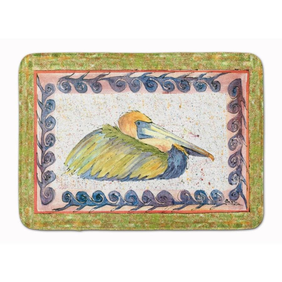 Caroline S Treasures Bird Pelican Machine Washable Memory Foam Mat In The Bathroom Rugs Mats Department At Lowes Com