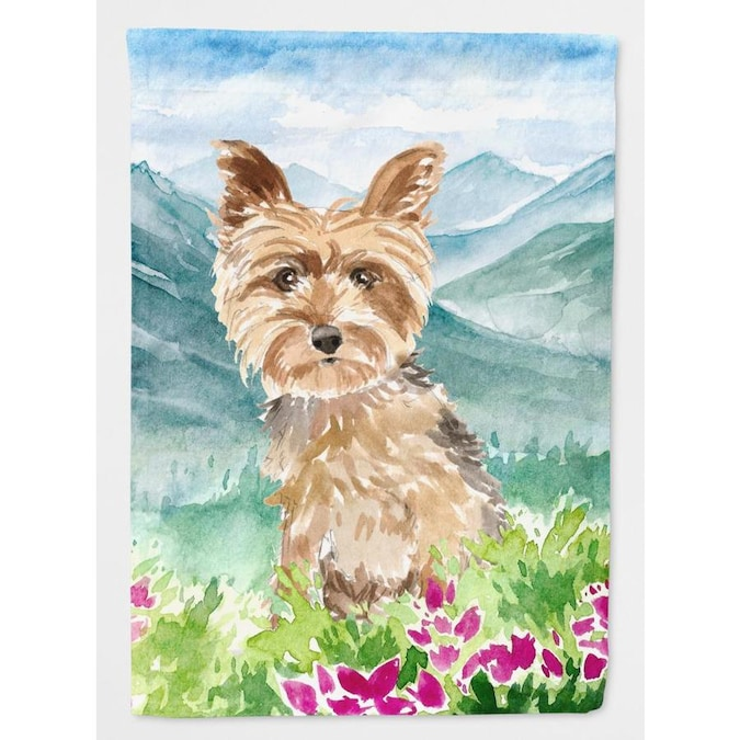 Caroline S Treasures Mountain Flowers 0 96 Ft W X 1 25 Ft H Dogs Garden Flag In The Decorative Banners Flags Department At Lowes Com