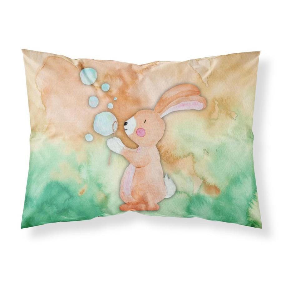 Carolines Treasures Rabbit and Bubbles Watercolor Pillowcase Standard Multicolor